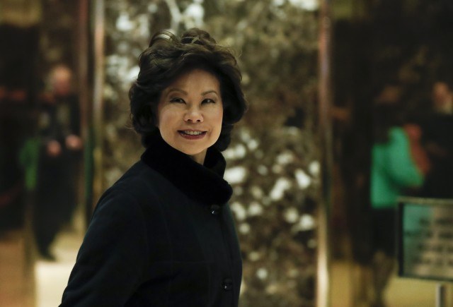 Trump Chooses Elaine Chao