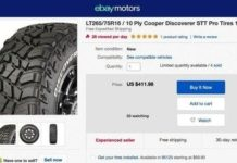 eBay Tire Installation